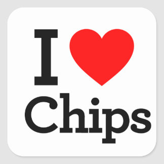 I Liebe-Chips Aufkleber