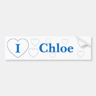 I Liebe Chloe Autoaufkleber
