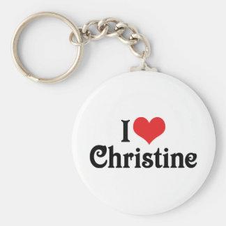 I Liebe Christine Schlüsselanhänger