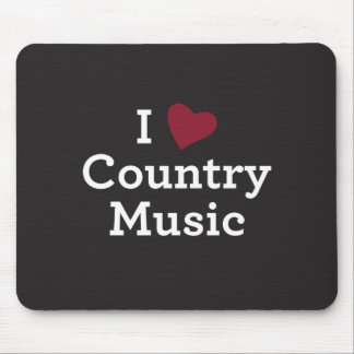 I Liebe-Countrymusik Mauspads