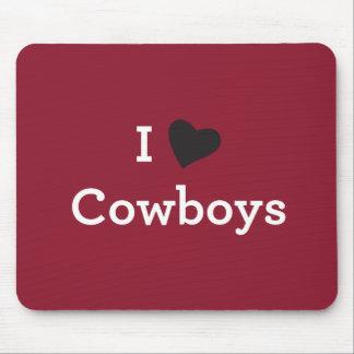 I Liebe-Cowboys Mousepad