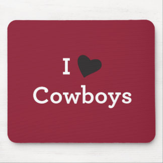 I Liebe-Cowboys Mousepads