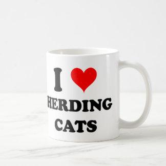 I Liebe, die Katzen in Herden lebt Tasse