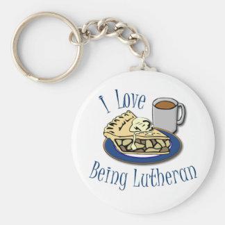 I Liebe, die Lutheraner lustig ist Standard Runder Schlüsselanhänger