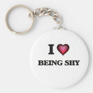 I Liebe, die schüchtern ist Schlüsselanhänger