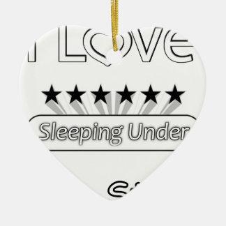 I Liebe, die unter den Sternen schläft Keramik Herz-Ornament