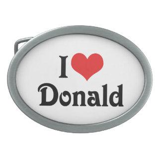 I Liebe Donald Ovale Gürtelschnallen