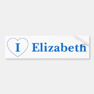 I Liebe Elizabeth Autoaufkleber
