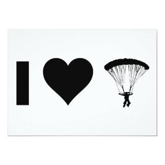 I Liebe-Fallschirmspringen 12,7 X 17,8 Cm Einladungskarte