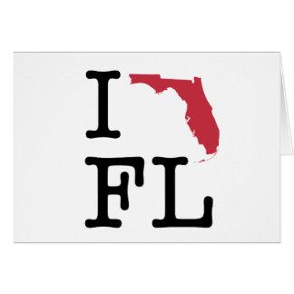 I Liebe Florida Karte