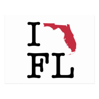 I Liebe Florida Postkarte