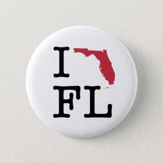 I Liebe Florida Runder Button 5,1 Cm