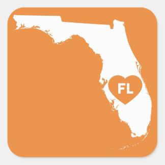 I Liebe-Florida-Staats-Aufkleber Quadratischer Aufkleber