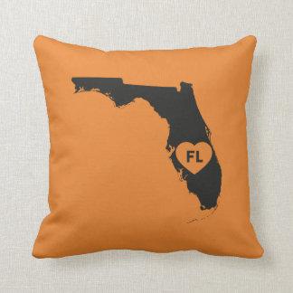 I Liebe-Florida-Staatthrow-Kissen Kissen