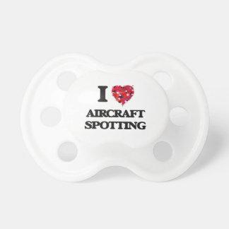 I Liebe-Flugzeug-Aufdeckung Baby Schnuller