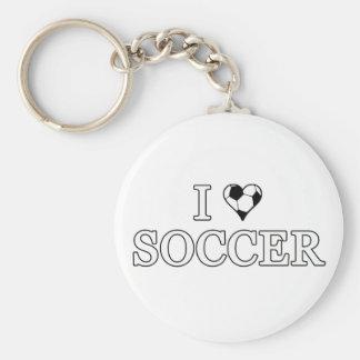 I Liebe-Fußball Schlüsselanhänger