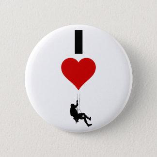 I Liebe-Gebirgsklettern (Vertikale) Runder Button 5,7 Cm