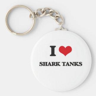 I Liebe-Haifisch-Behälter Schlüsselanhänger