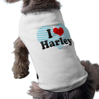 I Liebe Harley Ärmelfreies Hunde-Shirt
