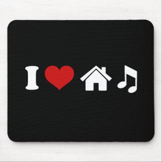 I Liebe-Haus-Musik Mousepad