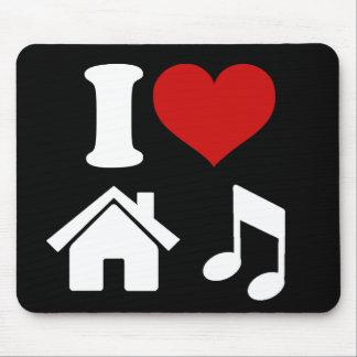 I Liebe-Haus-Musik Mousepads