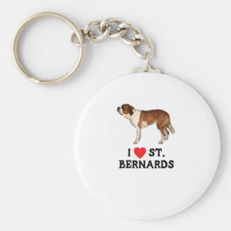 I Liebe-Heiliges Bernards Schlüsselanhänger