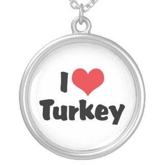 I Liebe-Herz die Türkei - Versilberte Kette