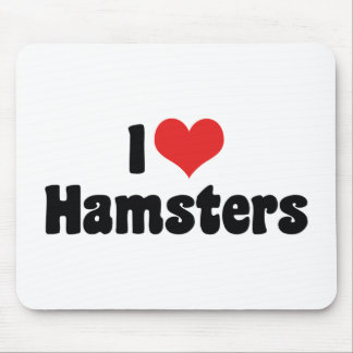 I Liebe-Herz-Hamster Mousepad