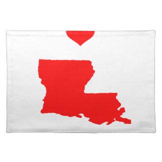 I Liebe (Herz) Louisiana Stofftischset