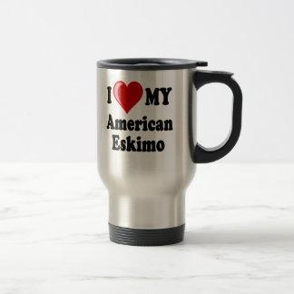 I Liebe (Herz) mein amerikanischer Eskimohund Reisebecher