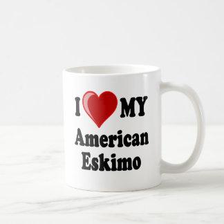 I Liebe (Herz) mein amerikanischer Eskimohund Tasse