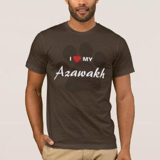 I Liebe (Herz) mein Azawakh Tatzen-Druck T-Shirt