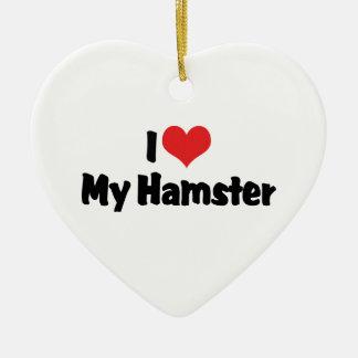 I Liebe-Herz mein Hamster Keramik Herz-Ornament