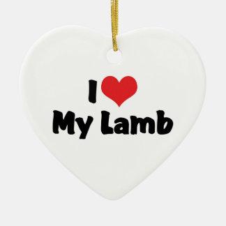 I Liebe-Herz mein Lamm Keramik Herz-Ornament