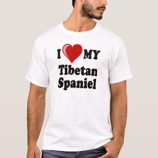 I Liebe (Herz) mein tibetanischer Spaniel-Hund T-Shirt