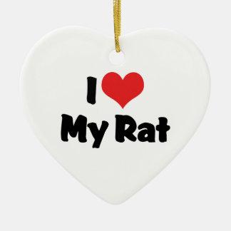 I Liebe-Herz meine Ratte Keramik Herz-Ornament
