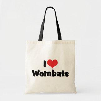 I Liebe-Herz Wombats Tragetasche