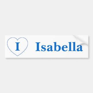 I Liebe Isabella Autoaufkleber