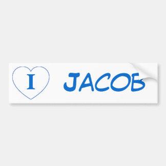 I Liebe Jakob (BPS) Autoaufkleber