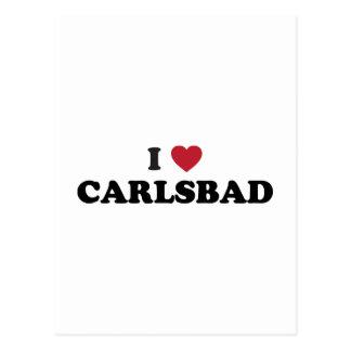 I Liebe Karlsbad Kalifornien Postkarte