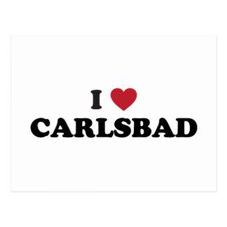 I Liebe Karlsbad Kalifornien Postkarten