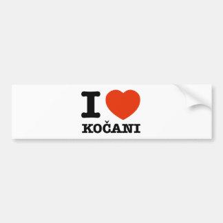 I Liebe Kocani Autoaufkleber