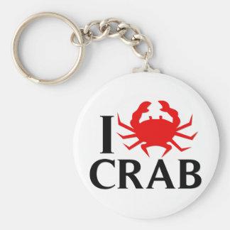 I Liebe-Krabbe Standard Runder Schlüsselanhänger