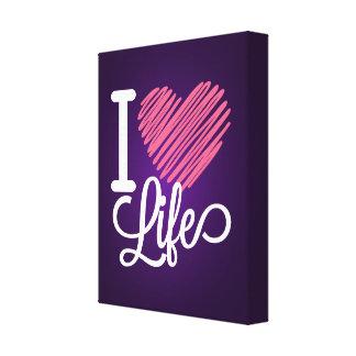 I Liebe-Leben-Zitat Leinwanddrucke