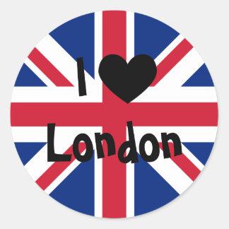 I Liebe London Runder Aufkleber