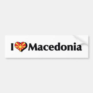 I Liebe-Macedonia-Flagge Autoaufkleber