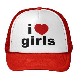I Liebe-Mädchen-Hut Netzkappen