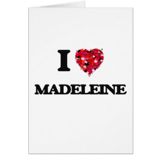 I Liebe Madeleine Grußkarte