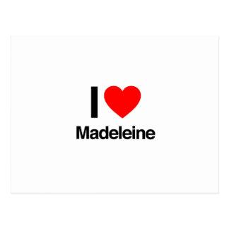 I Liebe Madeleine Postkarte