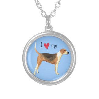 I Liebe mein amerikanischer Foxhound Versilberte Kette